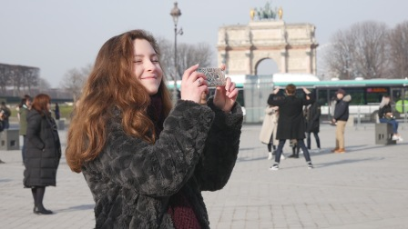 Papped in Paris...haha
