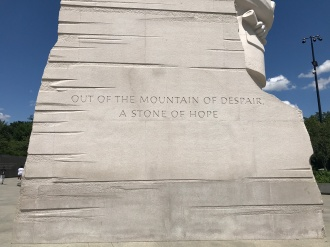 'Out of the mountain of despair, a stone of hope'