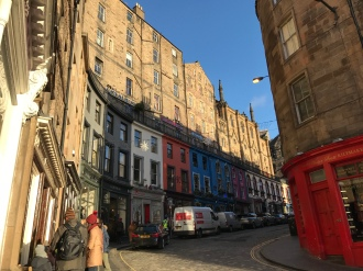 Colourful Edinburgh streets!